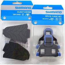 Shimano Road SPD-SL Pedal SM-SH12 2 Deg Float Shoe Cleats & SM-SH45 Cover Set