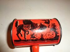 VINTAGE HALLOWEEN NOISE MAKER - U.S METAL TOY CO. WITCH / PUMPKIN / OWL / CAT