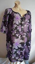 Vero Moda transparente Oversize Bluse Tunika S M 36 38 TOP
