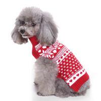 GN- PUPPY PET DOG WINTER CLOTHES XMAS SNOWFLAKE TURTLENECK SWEATER APPAREL KAWAI
