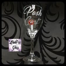 *WARNING* Rude Naughty Funny Swear Word Offensive Adult Posh Wine Glass Gift 🔞
