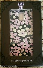 ANNA SUI Samsung Galaxy S5 Hardshell Case Black/Purple/White CO8905, NEW in FB