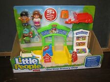 Fisher Price Little People Shop One Stop New food mart toy set grocery Store
