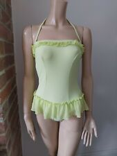 RED OR DEAD Rescue Me swimming bathing costume swimsuit halterneck green S 10