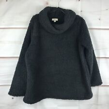 Style & Co Plus Size Cowl Neck Faux Sherpa Womens 2X Black Pullover Sweater New