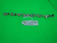 1964-66 PLYMOUTH Decklid Letters Emblem Barracuda Fury Valiant ~Wrong H~