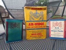 Vintage Alcan Shotgun Powder Tin/Box 3 Pc Lot AL-8 AL-7 Air Wedge Alton IL Empty