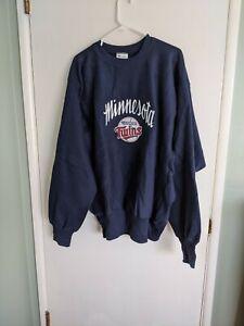 Minnesota Twins Champion Reverse Weave Warmup Deadstock navy blue sweatshirt XL