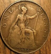 1914 UK GB GREAT BRITAIN ONE PENNY