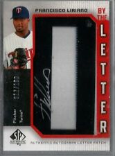 2006 SP Francisco Liriano By The Letter O Auto Patch Card #017/100