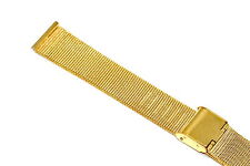 18MM GOLD STAINLESS STEEL MESH METAL BUCKLE WATCH BAND STRAP FITS SKAGEN