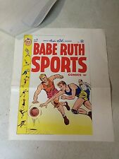 BABE RUTH SPORTS #1 COVER ART original cover proof 1948 wRARE INVOICE BASKETBALL