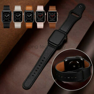 Genuine Leather iWatch Series 6 5 4 3 Strap for Apple Watch Band 40/44mm 38/42mm