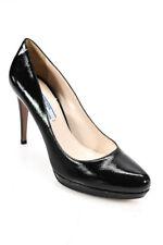Prada Womens Pointed Toe Slip On Platform Pumps Black Size 39 9 LL19LL
