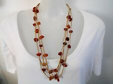 MOTHERS DAY GIFT Multi-Strand Agate Nuggets Cord Necklace was $29.95  NOW $24.95