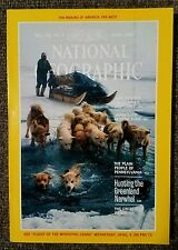 National Geographic mag. April 1984 With Map of Far West, Plain People, Norwhal
