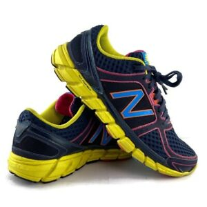 New Balance Womens 750v1 Running Shoes Blue Yellow Athletic Trail W750NY1 Size 9