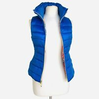 Lilly Pulitzer Size XS Allie Packable Down Feather Puffer VEST Bruster Blue NWT