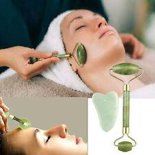Natural Jade Guasha Facial Beauty Massager Jade Roller Face Body Head Thin Tools