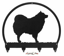 Swen Products Spitz Samoyed American Eskimo Black Metal Key Chain Holder Hanger