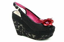 Irregular Choice Wedge Textile Shoes for Women