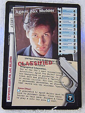 Agent Fox  Mulder  X-Files CCG  Trading collector card (1996) XF96-0169v1     H5