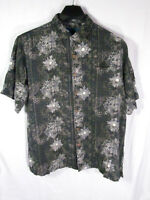 Paradise Blue Men's Hawaiian Shirt Size XL Multi Color Floral Silk Blend