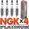 AUDI TT MK1 1.8 225bhp 02/99-12/06 NGK PLATINUM SPARK PLUGS x 4 PFR6Q