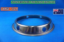 Stainless Steel Wok Stand Ring Rack BBQ stand 23cm - LARGE (A46) NEW