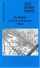 OLD D-DAY MAP ST AUBIN SWORD & JUNO BEACHES 1944