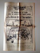 LE CANARD ENCHAINE 10 JUILLET 1968 DE GAULLE - POMPIDOU