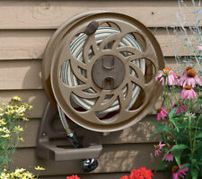 Suncast 125-Foot Capacity Wall-Mounted Side Tracker Garden Hose Reel with Guide