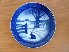 Royal Copenhagen 1971 Christmas Plate Hare in Winter