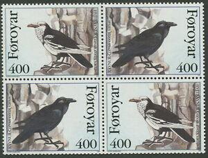 FAROE ISLANDS SG277-278 - 1995 'THE RAVEN' Block of 4 MNH SG277-278 [C2406]
