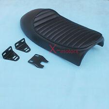Black Honda CB450 SS CB550 CB500 CB400 CB350 CB200 Vintage Hump Cafe Racer Seat