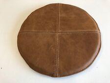 Auflage Sitzkissen rundes Kissen 35 DM cm rutschfest echt Leder Vintage cognac