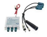 Dietz 41108 Universal digital Radio DAB+ AM/FM Splitter - DIN Antenne Anschlüsse