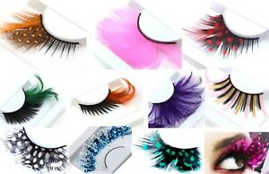 False Strip Eyelashes Natural Feather, Polka Dots, Frozen Frost or Stripe CHOOSE