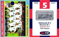 1580 SCHEDA RICARICA USATA TIM 5 MONDIALI 2002 IF5-P MAG.2004 OCR 16 CAB 28