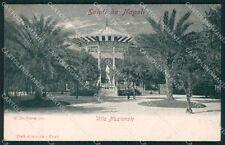 Napoli Città Villa Nazionale Alterocca 2143 cartolina XB5565