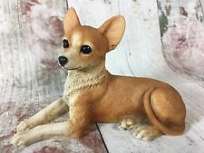 Vintage Castagna Chihuahua Brown Dog Figurine Hand Made in Italy 1993