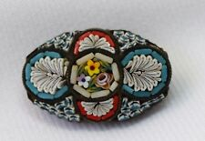 Beautiful Antique Victorian Italian Micro  Mosaic Brooch Pin w/ C Clasp