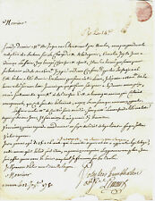 1750 NOTAIRE ARMATEUR NEGRIER LETTRE COMMERCE de RENNES  Ferd. Ohier de Grandpré