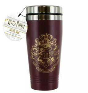Official Harry Potter Hogwarts Crest Travel Mug Insulated Double Walled NEW