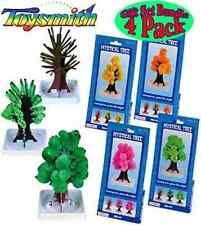 (set of 4) MYSTICAL TREE magic growing pink green yellow orange science kit toy