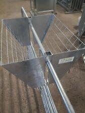 "Hurdle hay-rack for goats, sheep/lamb/calf. Galv, 2"" mesh & solid ends. INC VAT"