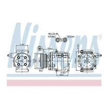 Fits Ford Fiesta MK6 1.4 16V Genuine OE Quality Nissens A/C Air Con Compressor
