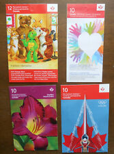 2012 Canada Lot of 4 Booklets Mnh Daylilies Etc
