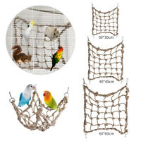 Pet Bird Climbing Net S/M/L Hemp Rope Training Climbing Cage Toy Pet Bed 01