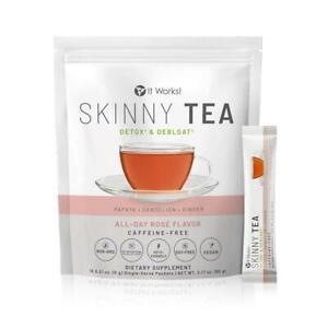 It Works! Skinny Tea  All Day Rosé Flavor Detox & Debloat Keto Friendly 15 Packs